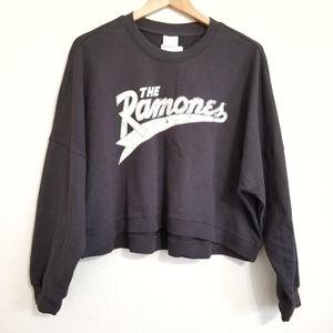 NWT The Ramones Graphic Band Oversized Sweatshirt